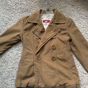 Hollister 100% Cotton Khaki Jacket with buttons